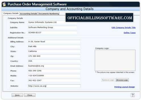 Windows 7 Business Purchase Order Organizer 3.0.1.5 full